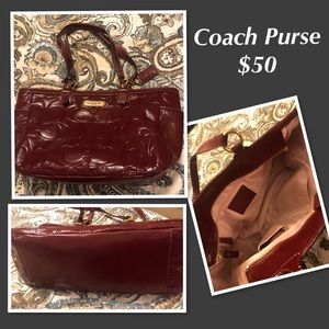Coach Purse Red Patent leather